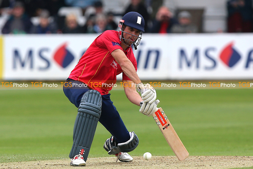 Alastair Cook of Essex hits four runs during Essex Eagles vs Gloucestershire, Royal London One-Day Cup Cricket at The Cloudfm County Ground on 4th May 2017