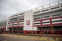 11th January 2020; Bet365 Stadium, Stoke, Staffordshire, England; English Championship Football, Stoke City versus Milwall FC; The Bet365 Stadium - Strictly Editorial Use Only. No use with unauthorized audio, video, data, fixture lists, club/league logos or 'live' services. Online in-match use limited to 120 images, no video emulation. No use in betting, games or single club/league/player publications