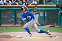 John Andreoli (6) of the Iowa Cubs at bat against the Salt Lake Bees in Pacific Coast League action at Smith's Ballpark on August 21, 2015 in Salt Lake City, Utah. The Bees defeated the Cubs 12-8.(Stephen Smith/Four Seam Images)