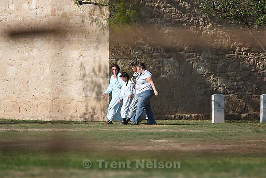 San Angelo - FLDS women led to interviews with CPS workers at Fort Concho. Texas Child Protective Services said they have taken 401 children from the YFZ Ranch into protective custody as of Monday, April 7, 2008 and brought them to Fort Concho.