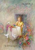 Interlitho, Sue Allison, TEENAGERS, paintings, lady, window, dove(KL3258/1,#J#) Jugendliche, jóvenes, illustrations, pinturas ,everyday