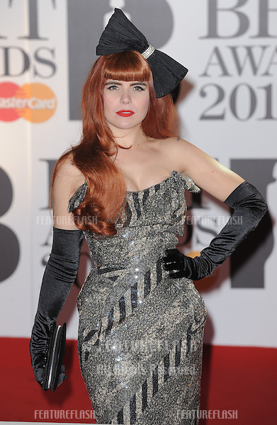 Paloma Faith arriving for the Brit Awards 2011 at the O2 centre, Greenwich, London.  16/02/2011  Picture by: Simon Burchell / Featureflash