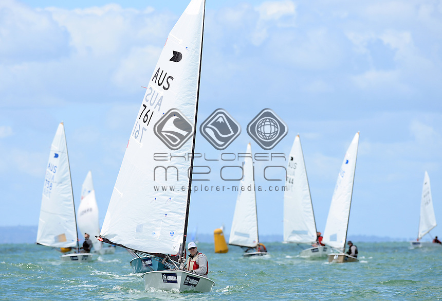 OK Dinghy / Andrew Baker (AUS)<br /> 2013 ISAF Sailing World Cup - Melbourne<br /> Sail Melbourne - The Asia Pacific Regatta<br /> Sandringham Yacht Club, Victoria<br /> December 1st - 8th 2013<br /> &copy; Sport the library / Jeff Crow