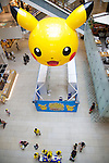 "The MARK IS Minato Mirai displays a big face of Pikachu inside the building during the ""1000 Pikachu Outbreak! at Yokohama Minatomirai"" on August 09, 2014. 1000 Pikachu performed at different areas of Minatomirai in Yokohama during the summer vacation event from August 9 to 17. (Photo by Rodrigo Reyes Marin/AFLO)"