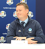 Stuart Wilson, European Junior Ryder Cup Captain announces that Blairgowrie Golf Club will host the Junior Ryder Cup in 2014. The press converence took place during the second round of the 2012 Johnnie Walker Championships which are being played over the PGA Centenary Course at Gleneagles from 23rd to 26thh August 2012: Picture Stuart Adams www.golftourimages.com: 24th August 2012
