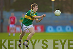 James O'Donoghue of Kerry in action against Cork in the Munster U21 Football Championship Final held on Wednesday night in Pairc Ui Rinn Cork.