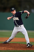 February 26, 2010:  Pitcher Cole Johnson of the Notre Dame Fighting Irish during the Big East/Big 10 Challenge at Jack Russell Stadium in Clearwater, FL.  Photo By Mike Janes/Four Seam Images