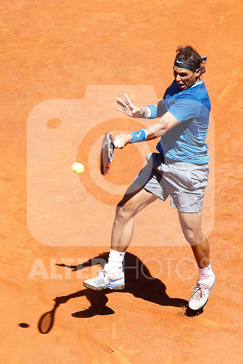 Spanish tennis player Rafael `Rafa´ Nadal during Madrid Open Tennis 2014 match. May 09, 2014. (ALTERPHOTOS/Victor Blanco)