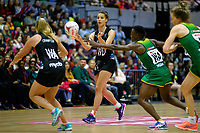 20.01.2019 Silver Ferns in action during the Silver Ferns v South Africa netball test match at the Copper Box Arena, London. Mandatory Photo Credit ©Michael Bradley Photography/Ben Queenborough.20.01.2019 Karin Burger of the Silver Ferns  during the Silver Ferns v South Africa netball test match at the Copper Box Arena, London. Mandatory Photo Credit ©Michael Bradley Photography/Ben Queenborough.