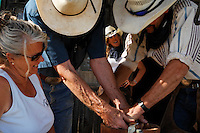 "Dianne Nelson at the Wild Horse Sanctuary watches friends make ice cream for guests. <br /> Dianne Nelson has saved mustangs on a ranch in northern California.  ""It was in 1978 that the Wild Horse Sanctuary founders rounded up almost 300 wild horses for the Forest Service in Modoc County, California. Of those 300, 80 were found to be un-adoptable and were scheduled to be destroyed at a government holding facility near Tule Lake, California. The Sanctuary is located near Shingletown, California on 5,000 acres of lush lava rock-strewn mountain meadow and forest land. Black Butte is to the west and towering Mt. Lassen is to the east. ..Their goals:.Increase public awareness of the genetic, biological, and social value of America's wild horses through pack trips on the sanctuary, publications, mass media, and public outreach programs..Continue to develop a working, replicable model for the proper and responsible management of wild horses in their natural habitat..Demonstrate that wild horses can co-exist on the open range in ecological balance with many diverse species of wildlife, including black bear, bobcat, mountain lion, wild turkeys, badger, and gray fox..Collaborate with research projects in order to document the intricate and unique social structure, biology, reversible fertility control, and native intelligence of the wild horse."