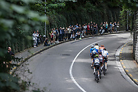 "Early break away group climbing the ""Keizersberg"" <br /> <br /> 51th GP Jef 'Poeske' Scherens 2017 <br /> Leuven - Leuven (13local laps/153.7km)"