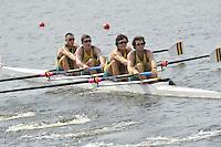 Brest, Belarus. AUS BM4-, , at the  the start.  2010. FISA U23 Championships. Thursday,  22/07/2010.  [Mandatory Credit Peter Spurrier/ Intersport Images]
