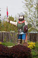 Symbols of Scandinavian heritage in Westby Wisconsin in the Driftless Area.