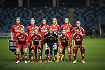 Brondby IF before the Champions League last 16 tie, first leg between Manchester City Women and Brondby IF at the Academy Stadium. <br /> <br /> Photo credit should read: Lynne Cameron/Sportimage