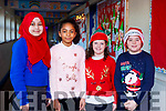 Performing at the CBS National School Christmas play on Monday morning last are from l to r, Fatima Alsarzouff, Vanessa Anthony, Katie Faggetter and Jack Greer.