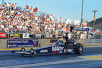Jul, 20, 2012; Morrison, CO, USA: NHRA top fuel dragster driver Brandon Bernstein during qualifying for the Mile High Nationals at Bandimere Speedway. Mandatory Credit: Mark J. Rebilas-