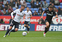 Bolton Wanderers' Gary Madine in action during todays match<br /> <br /> Photographer Rachel Holborn/CameraSport<br /> <br /> The EFL Sky Bet Championship - Bolton Wanderers v Leeds United - Sunday 6th August 2017 - Macron Stadium - Bolton<br /> <br /> World Copyright &copy; 2017 CameraSport. All rights reserved. 43 Linden Ave. Countesthorpe. Leicester. England. LE8 5PG - Tel: +44 (0) 116 277 4147 - admin@camerasport.com - www.camerasport.com