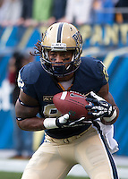 Pitt tight end Manasseh Garner. The North Carolina Tar Heels defeated the Pitt Panthers 34-27 at Heinz Field, Pittsburgh Pennsylvania on November 16, 2013.