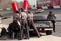 #3 Chevrolet of Dale Earnhardt pit stop Atlanta Journal 500, Atlanta Motor Speedway, Hampton, GA, November 18, 1990. (Photo by Brian Cleary/bcpix.com)