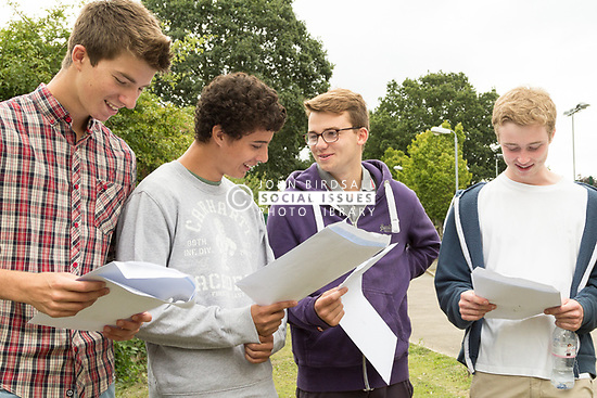 School students receiving their A Level results, London Borough of Haringey, UK