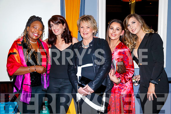 Thabi Simelane, Mairead O'Sullivan, Margaret Kennedy, Eimear O'Mahony and Valerie Lynch, pictured at Sickly Come Dancing, UHK, at Ballygarry House Hotel & Spa, Tralee on Friday night last.