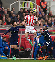 Ramadan of Stoke wins a header during the EPL - Premier League match between Chelsea and West Ham United at Stamford Bridge, London, England on 8 April 2018. Photo by PRiME Media Images.