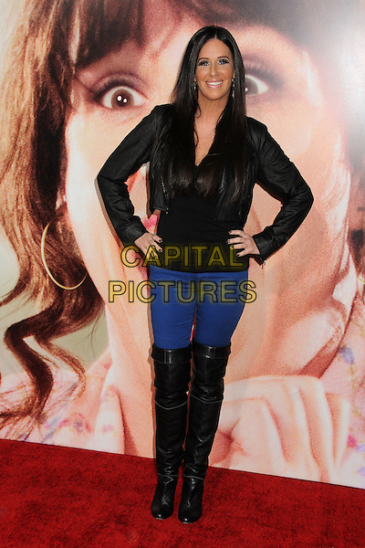 Patti Stanger.World premiere of 'Jack & Jill' at Mann Village Theatre in West Hollywood, California, USA..November 6th, 2011.full length black boots otk blue jeans denim hands on hips.CAP/ADM/BP.©Byron Purvis/AdMedia/Capital Pictures.