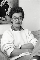 Montreal (Qc) CANADA - February 6, 1989 File Photo- Carl Bechard interview in his home.<br /> -Photo (c)  Images Distribution