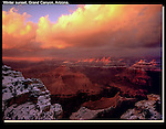 """The edges get pretty slippery this time of year. Ever read, """"Over the Edge: Death in Grand Canyon."""" Sobering.<br /> Winter sunset at Powell Point, Grand Canyon, Arizona. .  John offers private photo tours in Grand Canyon National Park and throughout Arizona, Utah and Colorado. Year-round."""