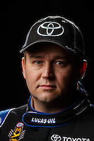 Feb 10, 2016; Pomona, CA, USA; NHRA top fuel driver Richie Crampton poses for a portrait during media day at Auto Club Raceway at Pomona. Mandatory Credit: Mark J. Rebilas-USA TODAY Sports