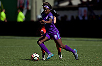 Portland, OR - Saturday April 15, 2017: Chioma Ubogagu during a regular season National Women's Soccer League (NWSL) match between the Portland Thorns FC and the Orlando Pride at Providence Park.