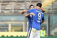 Brescia 30/09/2017 - campionato di calcio serie B / Brescia - Perugia / foto Matteo Gribaudi/Image Sport/Insidefoto<br /> nella foto: Andrea Caracciolo-Dimitri Bisoli