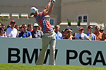 Chris Wood tees off from the 1st tee to start  Round 3 of the BMW PGA Championship at  Wentworth, Surrey, England, 22nd May 2010..Photo Golffile/Eoin Clarke.(Photo credit should read Eoin Clarke www.golffile.ie)....This Picture has been sent you under the condtions enclosed by:.Newsfile Ltd..The Studio,.Millmount Abbey,.Drogheda,.Co Meath..Ireland..Tel: +353(0)41-9871240.Fax: +353(0)41-9871260.GSM: +353(0)86-2500958.email: pictures@newsfile.ie.www.newsfile.ie.