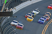 19-20 February, 2016, Daytona Beach, Florida USA<br /> Chase Elliott races Joey Logano to the finishline for the win.<br /> ©2016, F. Peirce Williams