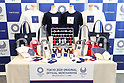 2020 Tokyo 2020 Olympic and Paralympic games official goods, <br /> APRIL 28, 2017 : <br /> The Tokyo Organising Committee of the Olympic <br /> and Paralympic Games held a new product photo session, <br /> regarding the Tokyo 2020 Olympic <br /> and Paralympic games official goods <br /> in Tokyo, Japan. <br /> (Photo by YUTAKA/AFLO SPORT)