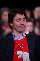 April 23 , 2014 -  Justin Trudeau,Leader,  Liberal Party of Canada attend the Constitutional Amendment Plenary at the  2014 Biennial Convention in Montreal. <br /> <br /> Justin Trudeau, chef du Parti liberal du Canada durant la Seance pleniere sur les amendements constitutionnels<br /> lors du  Congres biennal liberal a Montreal,  dimanche le 23 fevrier 2014.<br /> <br /> Photo : (c) Pierre Roussel- Images Distribution