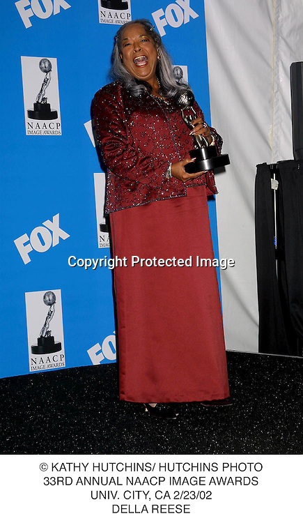 © KATHY HUTCHINS/ HUTCHINS PHOTO.33RD ANNUAL NAACP IMAGE AWARDS.UNIV. CITY, CA 2/23/02.DELLA REESE