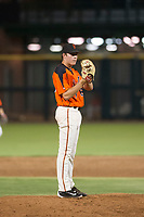 AZL Giants relief pitcher Seth Corry (63) gets ready to deliver a pitch during a game against the AZL Angels on July 10, 2017 at Scottsdale Stadium in Scottsdale, Arizona. AZL Giants defeated the AZL Angels 3-2. (Zachary Lucy/Four Seam Images)