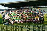 Kerry players celebrate after defeating Cork in the U-17 Munster final at Austin Stack park Tralee on Tuesday night.