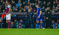 Callum Paterson of Cardiff City appears to disagree with his manager Neil Warnock during the Sky Bet Championship match between Aston Villa and Cardiff City at Villa Park, Birmingham, England on 10 April 2018. Photo by Mark  Hawkins / PRiME Media Images.