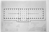 Bibliotheque Sainte-Genevieve in Paris, France. Ground floor plan of hall.