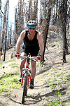 Neil Gallagher enjoys the downhill section of the Tommy Creek Trail in the Entiat Drainage of North Central Washington.