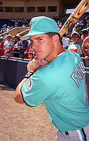 Florida Marlins Monty Fariss (4) during Spring Training 1993 at Joker Marchant Stadium in Lakeland, Florida.  (MJA/Four Seam Images)