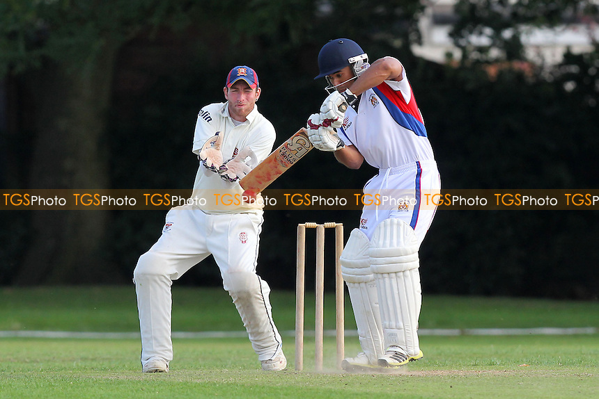 Sam Samarasekera in batting action for Hornchurch Athletic - Hornchurch Athletic CC vs Rayleigh CC 2nd XI - Mid-Essex Cricket League at Hylands Park - 03/08/13 - MANDATORY CREDIT: Gavin Ellis/TGSPHOTO - Self billing applies where appropriate - 0845 094 6026 - contact@tgsphoto.co.uk - NO UNPAID USE