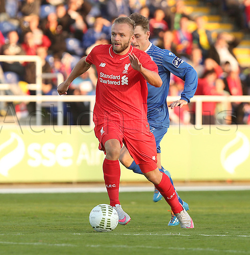 17th July 2015. RSC, Waterford, Ireland. Pre-season football friendly. Waterford United versus Liverpool XI. Ryan McLaughlin, Liverpool, in action during the Pre-season game with Waterford United.