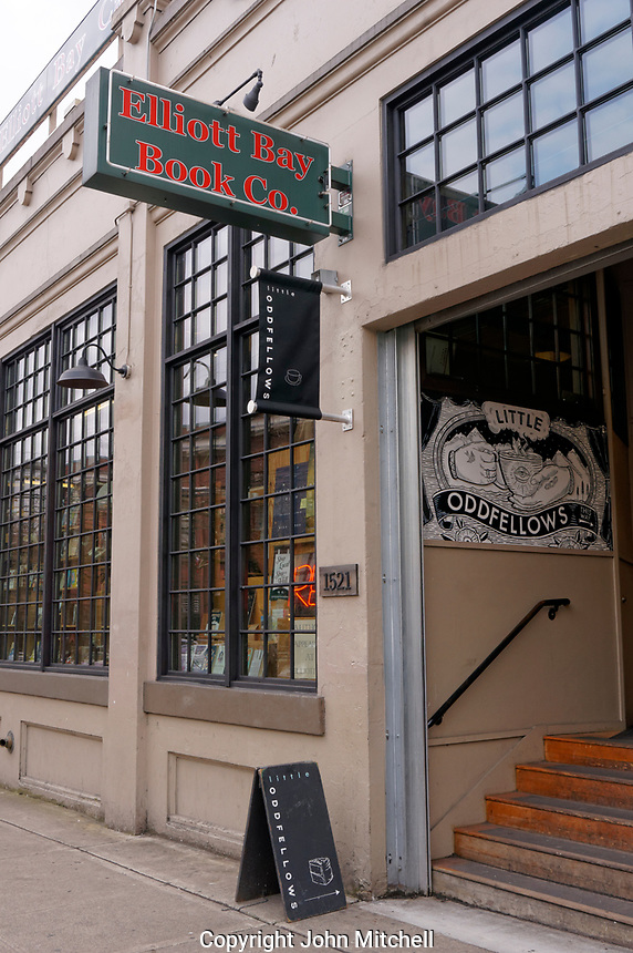 The Elliot Bay Book Company bookstore in the Capitol Hill neighborhood of Seattle, Washington, USA