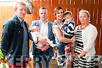 Baby Paddy Keane who was christened in Duagh Church by Fr. Jack O'Donnell on Saturday last with his parents Padraig & Lisa Keane, Duagh & brother Daniel & god parents Dinny Lane & Grainne Keane at Eabha Joan's Restaurant, Listowel.