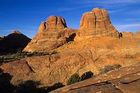 Warm light on rocks of Garden of the Gods-Arches National Park, Utah