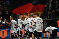 19th November 2019, Frankfurt, Germany; 2020 European Championships qualification, Germany versus Northern Ireland; Leon Goretzka Germany is happy about the goal for 2-1