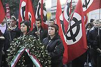 - Milan demonstration of far-right groups and organizations in the anniversary of Sergio Ramelli and Enrico Pedenovi  killing in 1975<br /> <br /> - Milano, manifestazione di gruppi e organizzazioni di estrema destra in ricorrenza dell'uccisione di Sergio Ramelli ed Enrico Pedenovi nel 1975
